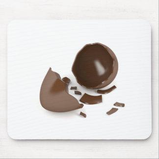 Alfombrilla De Ratón Huevo de chocolate quebrado