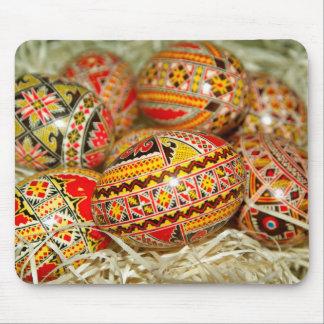 Alfombrilla De Ratón Huevos de Pascua pintados del rumano