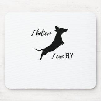 Alfombrilla De Ratón I belive puedo volar el dachshund
