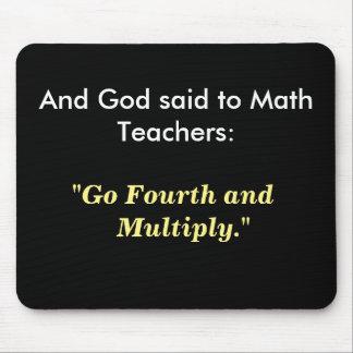 Alfombrilla De Ratón Idea del regalo del profesor de matemáticas - cita