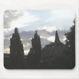 Alfombrilla De Ratón Iglesia de la puesta del sol