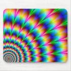 Alfombrilla De Ratón Ilusión óptica espiral del arco iris