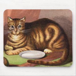 Alfombrilla De Ratón Ilustracion del vintage del gato de Tabby del