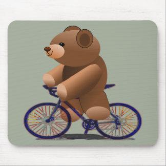 Alfombrilla De Ratón Impresión de ciclo del oso de peluche