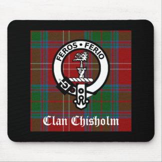 Alfombrilla De Ratón Insignia del tartán y del escudo de Chisholm del c