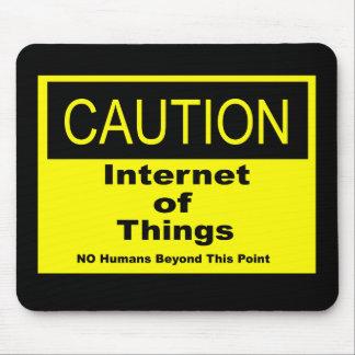 Alfombrilla De Ratón Internet de la señal de peligro de la precaución