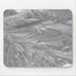 Alfombrilla De Ratón Invierno Frost en blanco y negro