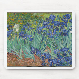 Alfombrilla De Ratón Iris de Vincent van Gogh que pintan el trabajo de