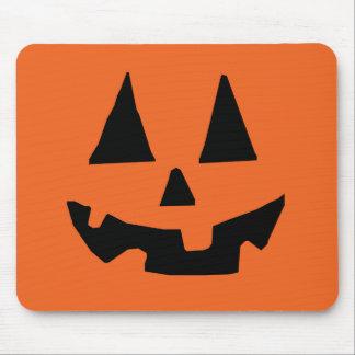 Alfombrilla De Ratón Jack-o-Linterna de la calabaza de Halloween
