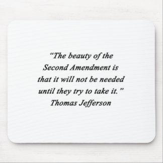 Alfombrilla De Ratón Jefferson - segunda enmienda