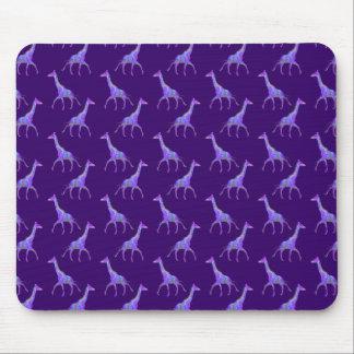 Alfombrilla De Ratón Jirafa de la púrpura del estilo del Hippie el