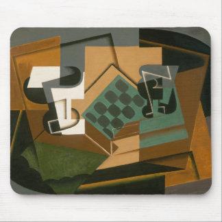 Alfombrilla De Ratón Juan Gris - tablero de ajedrez, vidrio, y plato