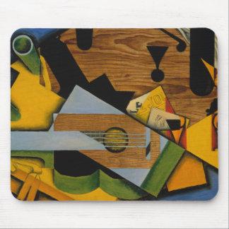 Alfombrilla De Ratón Juan Gris - todavía vida con una guitarra