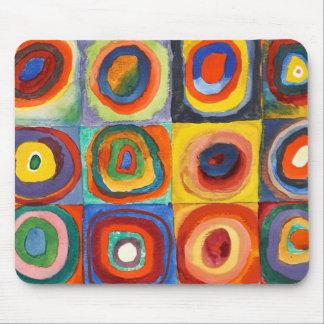 Alfombrilla De Ratón Kandinsky - cuadrados con los círculos
