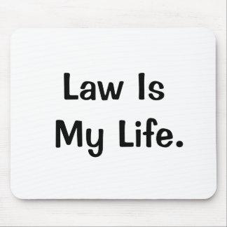 Alfombrilla De Ratón La ley es mi cita de motivación profunda del aboga