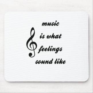 Alfombrilla De Ratón La música es como lo que suenan las sensaciones