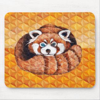 Alfombrilla De Ratón La panda roja refiere cubismo anaranjado