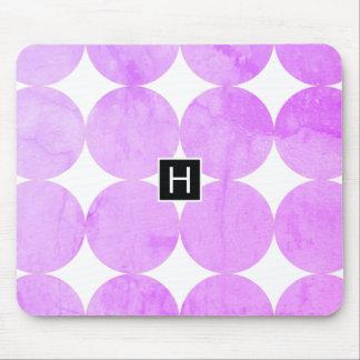 Alfombrilla De Ratón La púrpura moderna circunda el monograma del  
