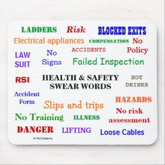 Alfombrilla De Ratón La salud y la seguridad juran las palabras molesto