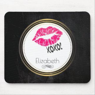 Alfombrilla De Ratón ¡Labios rosados atractivos de Kissy con xoxo!