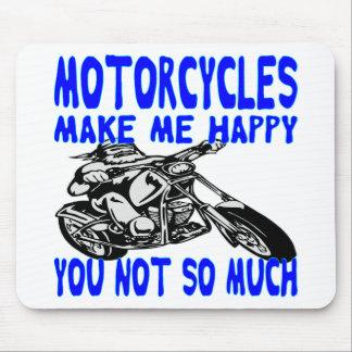 Alfombrilla De Ratón Las motocicletas le hacen me feliz no tanto 2