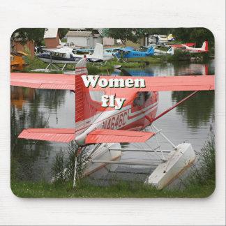 Alfombrilla De Ratón Las mujeres vuelan: avión 23, Alaska del flotador