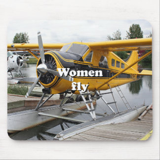 Alfombrilla De Ratón Las mujeres vuelan: avión del flotador, capilla