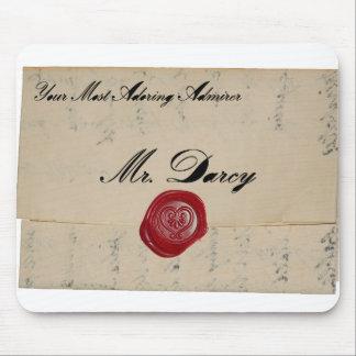 Alfombrilla De Ratón Letra de amor de Sr. Darcy Regency Mousepad