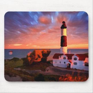 Alfombrilla De Ratón lighthouse sunrise mousepad