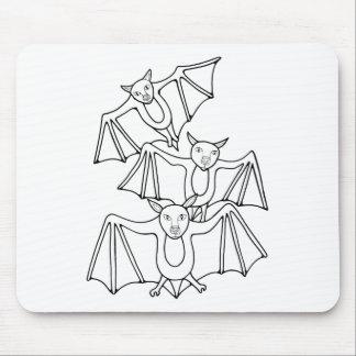 Alfombrilla De Ratón Línea diseño de los palos de Masqarade del arte