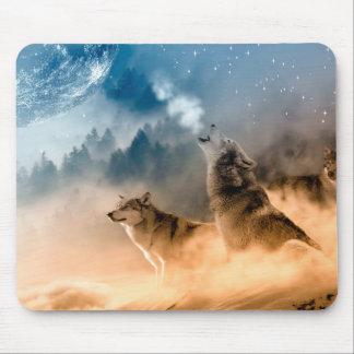 Alfombrilla De Ratón Lobo de Howlin - arte del lobo - lobo de la luna -