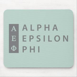 Alfombrilla De Ratón Logotipo apilado el | épsilon alfa de la phi