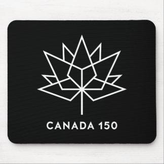 Alfombrilla De Ratón Logotipo del funcionario de Canadá 150 - blanco y