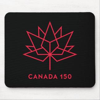 Alfombrilla De Ratón Logotipo del funcionario de Canadá 150 - negro y