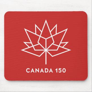 Alfombrilla De Ratón Logotipo del funcionario de Canadá 150 - rojo y