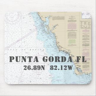 Alfombrilla De Ratón Longitud náutica de la latitud de Punta Gorda la