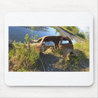 Alfombrilla De Ratón Los coches viejos de Eklutna Tailrace