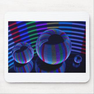 Alfombrilla De Ratón Luces espirales en el cristal