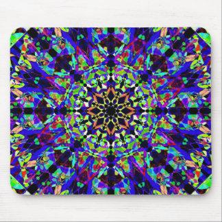 Alfombrilla De Ratón Mandala vibrante del mosaico