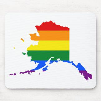 Alfombrilla De Ratón Mapa de la bandera de Alaska LGBT