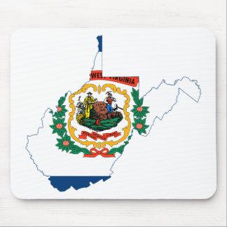 Alfombrilla De Ratón Mapa de la bandera de Virginia Occidental