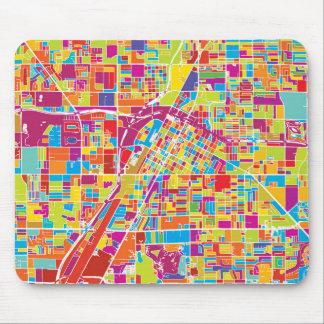 Alfombrilla De Ratón Mapa de Las Vegas colorido, Nevada