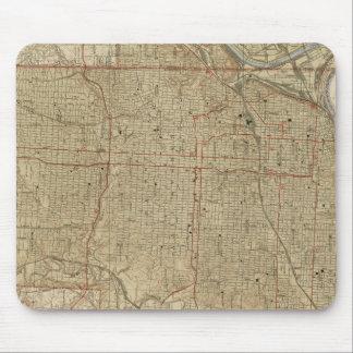 Alfombrilla De Ratón Mapa del vintage de Kansas City Missouri (1935)