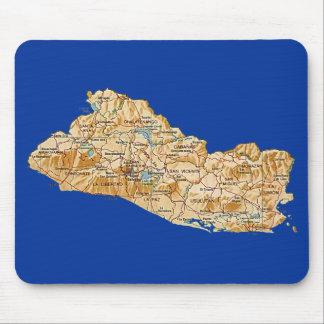 Alfombrilla De Ratón Mapa Mousepad de El Salvador