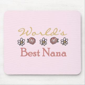 Alfombrilla De Ratón Margaritas y mundos la mejor Nana de los rosas