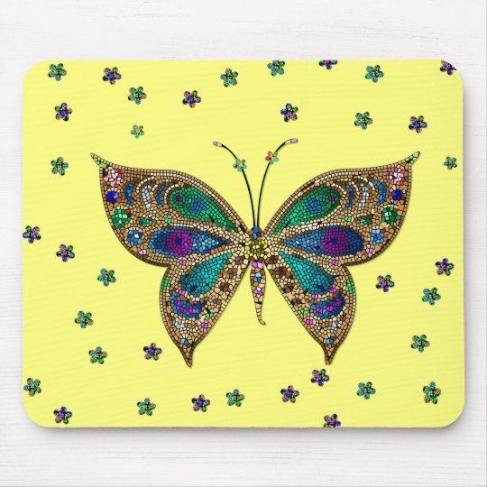 Alfombrilla De Ratón Mariposa y estrellas multicoloras Mousepad