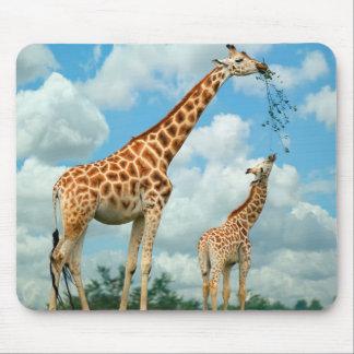 Alfombrilla De Ratón Mauspad jirafas niño madre y