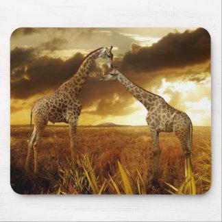 Alfombrilla De Ratón Mauspad jirafas puestas de sol