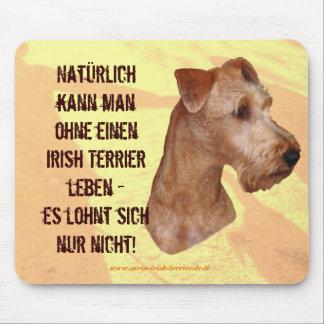 """Alfombrilla De Ratón Mauspad """"Terrier Irlandesa """""""
