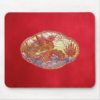 Alfombrilla De Ratón Medallón chino del dragón